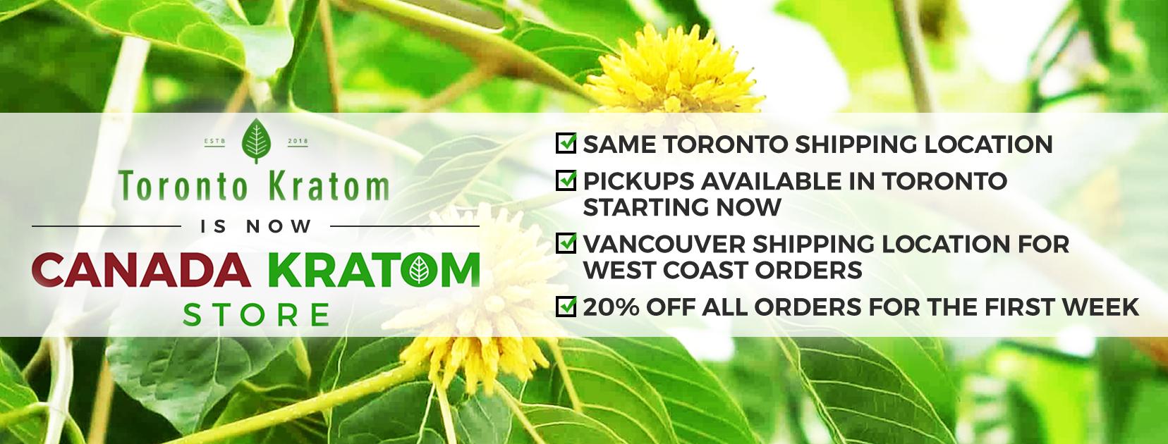 Kratom Canada Store Banner